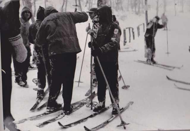 Sciatori a Monte Faito