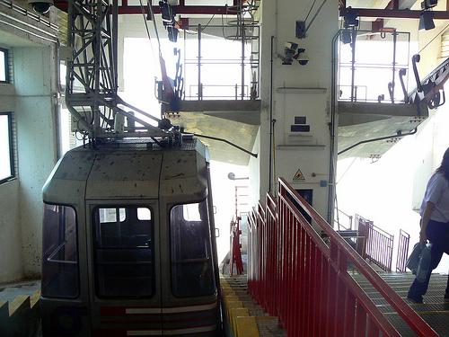 interno stazione funivia